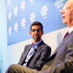 CEO of Google, Sundar Pichai, has been named the world's most trusted corporate leader. Copyright by World Economic Forum / Manuel Lopez.