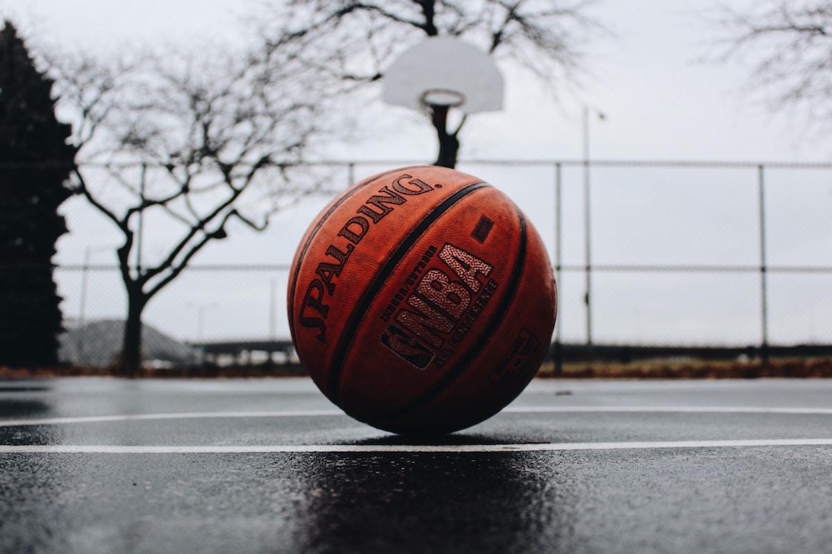 A basketball
