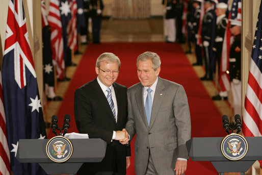 Rudd and Bush