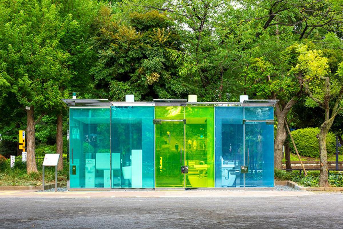 Transparent public toilets take Tokyo