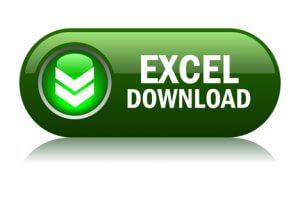 Excel format download button,vector illustration