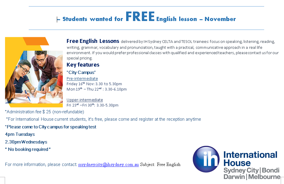 Free english city nov