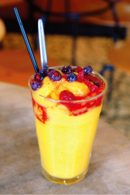 Fresh Fruit Crushie / Orange & Mango ($5.50)