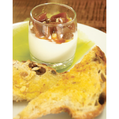 Autumn Fruit Compote with Original Yoghurt ($4.80)/Organic Fruit Toast ($3.50)