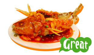 Fried Yellow Fish with Sweet & Sour Sauce