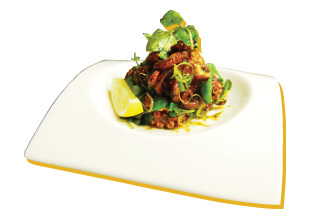 Chargrilled Baby Octopus with Charmoula & Herb Salad