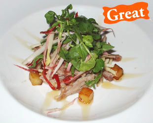 Duck Salad with Hazelnuts and Apples