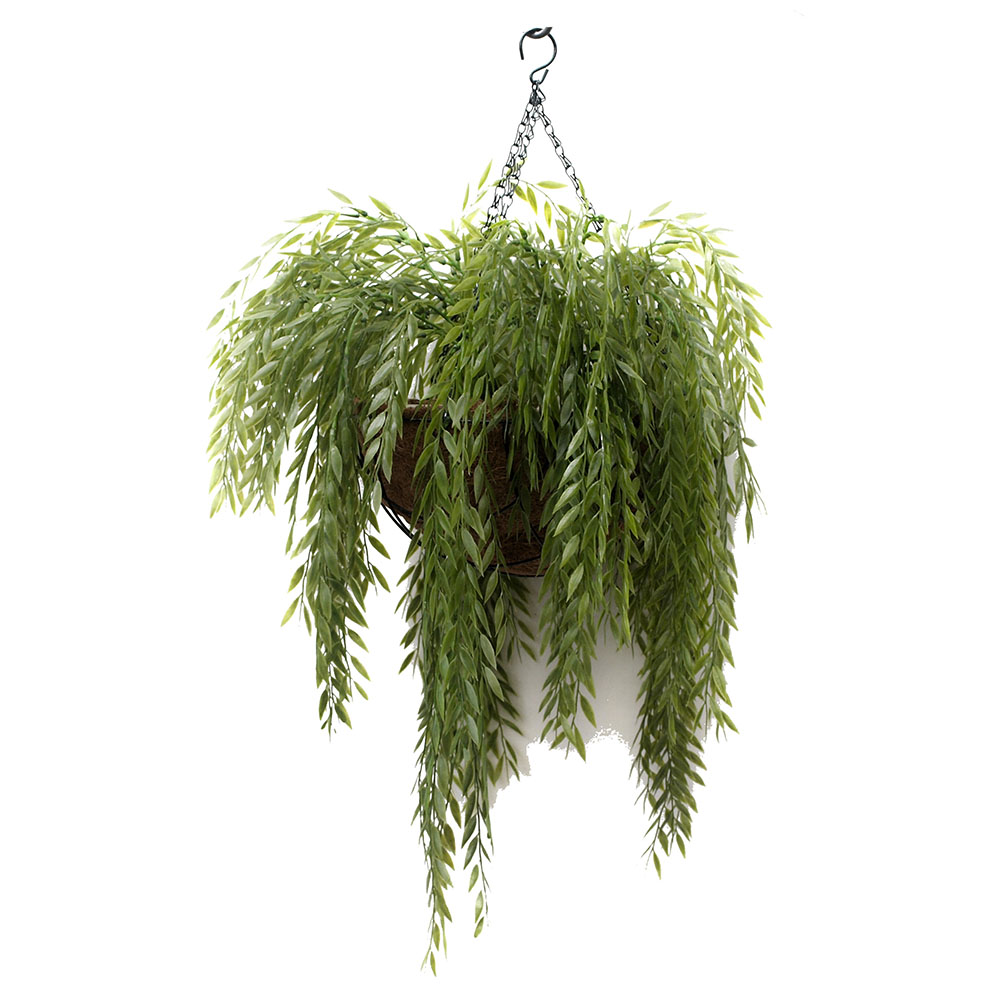 Artificial Flower Baskets Online : Artificial hanging house plants silk flower