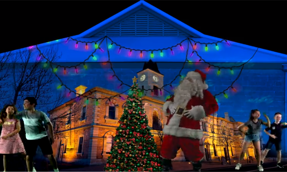 The '12 Nights of Christmas' projection has been developed by Illuminart Australia and Heapsgood Productions with appearances by young actors, local icons and Santa.