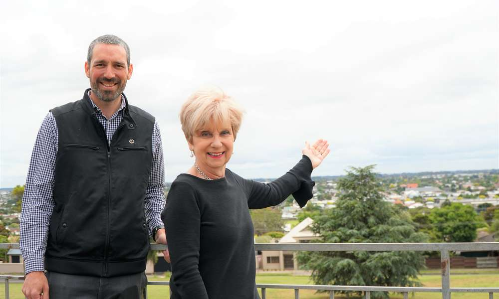 City of Mount Gambier Environmental Sustainability Officer Aaron Izzard and Mayor Lynette Martin are thrilled Mount Gambier has been crowned the 2019 KESAB Sustainable Communities winner.
