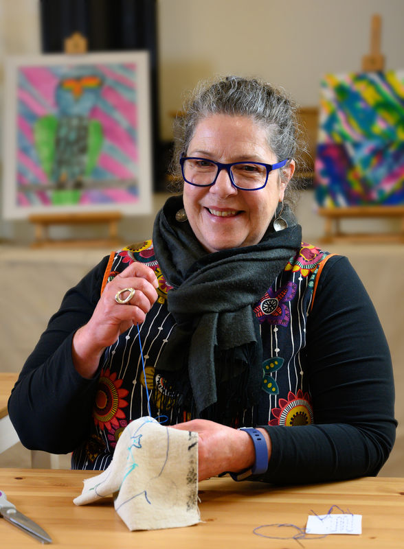 Mount Gambier artist Jo Fife is looking forward to seeing everyone's stories in stitch as part of the Telling Tales project.