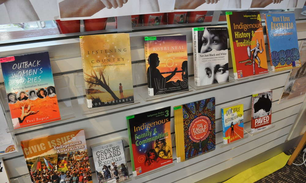 Take a look at the display of books celebrating Indigenous culture at the Mount Gambier Library.