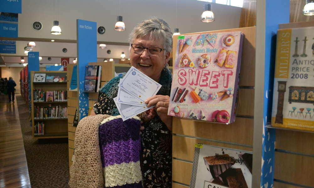 Regular Crochet Club attendee Rhonda Robinson is excited for the Crochet Club exhibition at the Library this weekend.