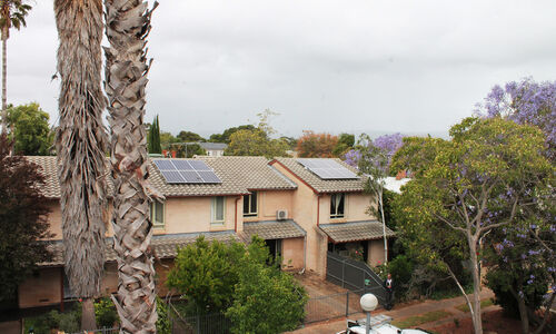 Solar Panels being installed on SA Housing Trust homes