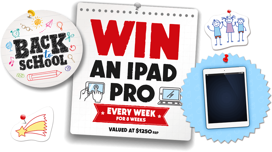 WIN an iPad Pro every week for 8 weeks, valued at $1250