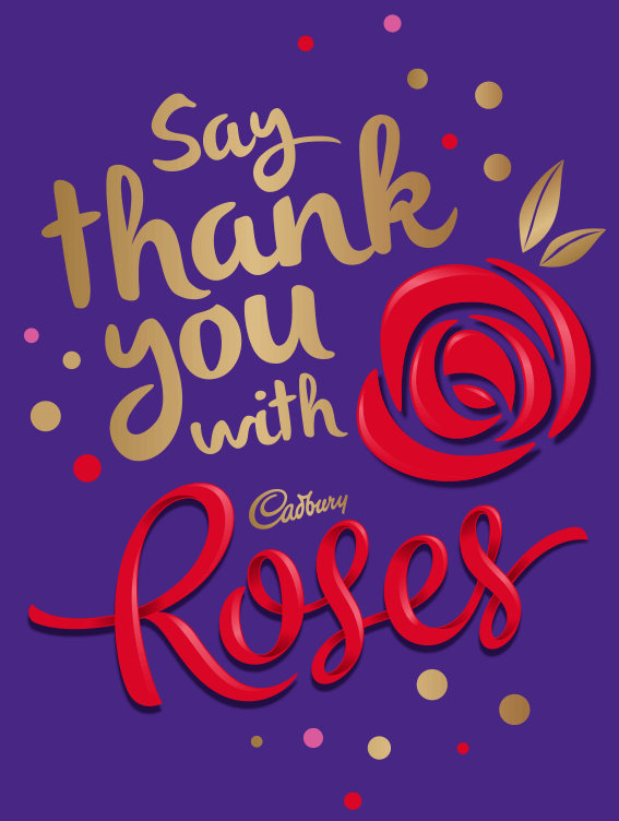 Say 'thank you' with CADBURY ROSES