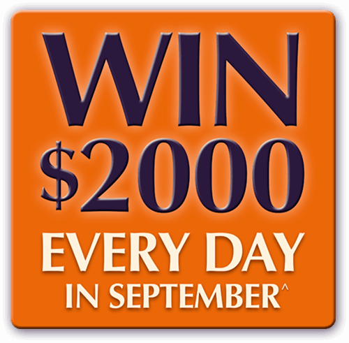 Win $2000 Every day in September^