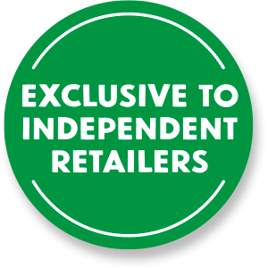 Exclusive to Independent Retailers