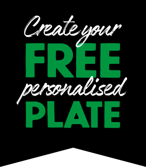 Create your FREE personalised PLATE
