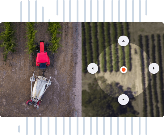 Calibrate tractor location in vines