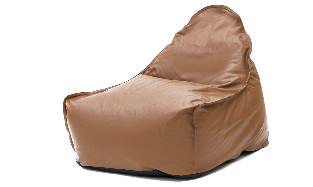 Brown   leather bean bag   1359  web2 %281%29