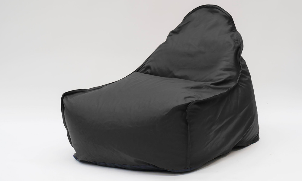 Black   leather bean bag   1359  web1