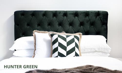 Hunter green   kingston velvet tufted headboard   web1