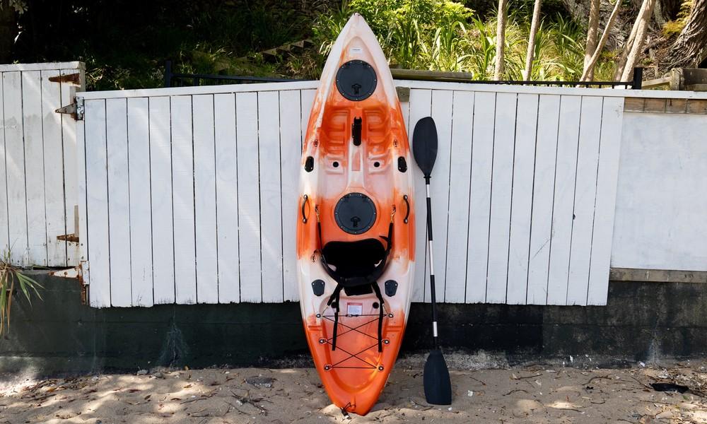 2.7m kayak against wall