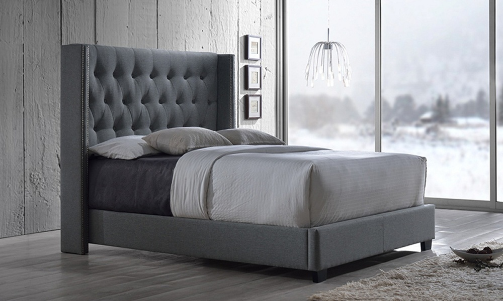 Container Door | Studded Quilted Bed Frame