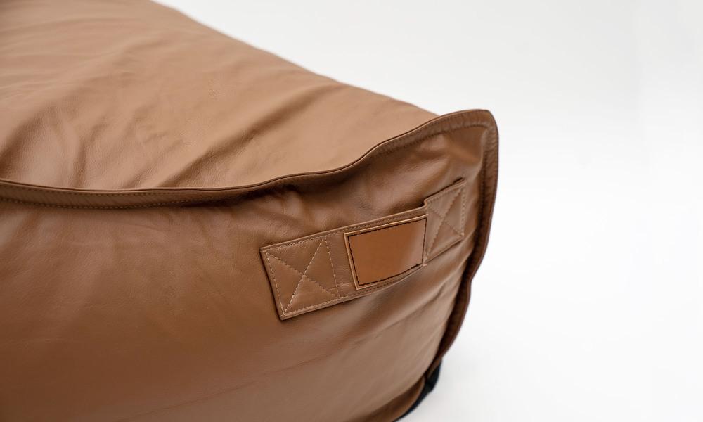 Brown   leather bean bag   1359  web4 %281%29