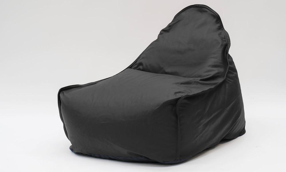 Black   leather bean bag   1359  web1