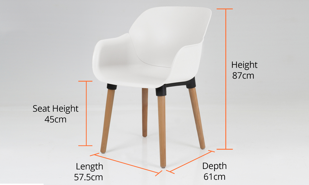 Dimensions harrison plastic tub chair 2700   web6