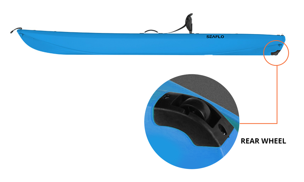 Rear wheel   blue adult kayak with paddle 2610   web2