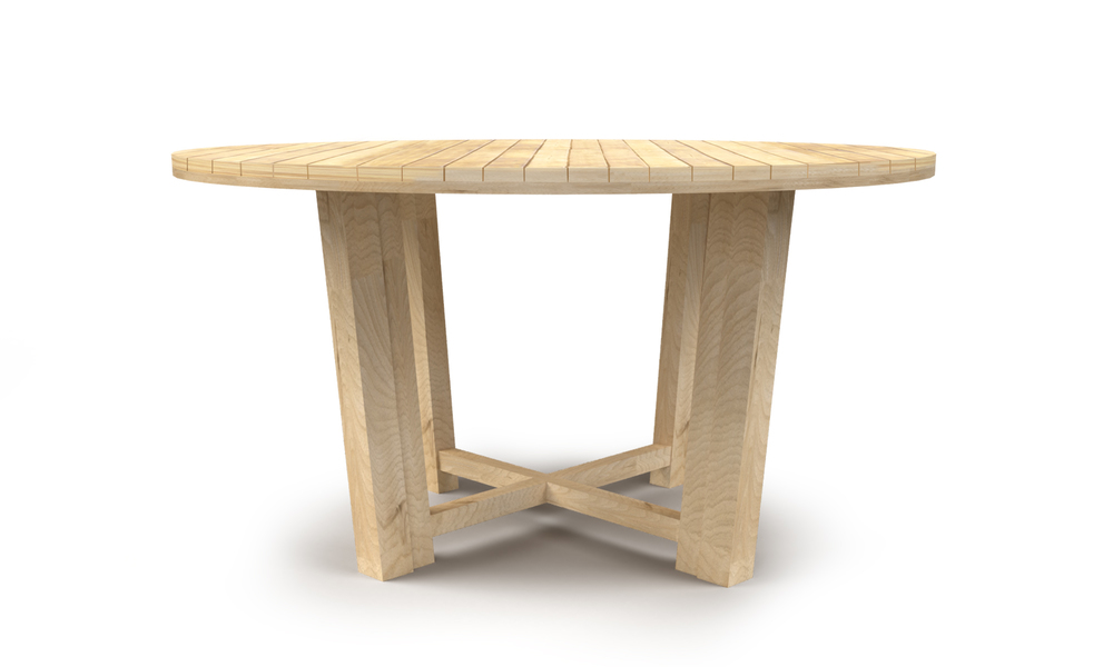 Isla round teak dining table 2567   web2