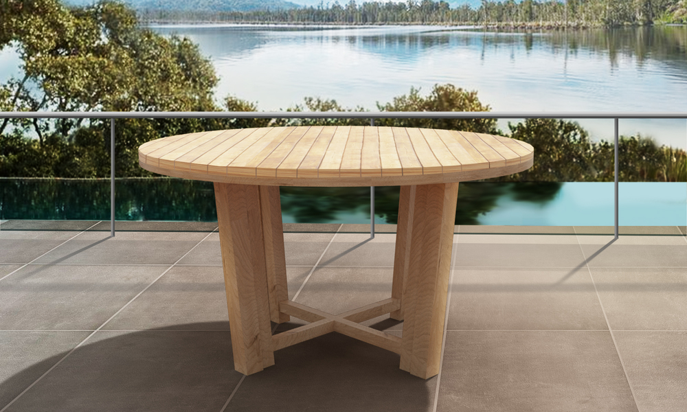 Isla round teak dining table 2567   web1