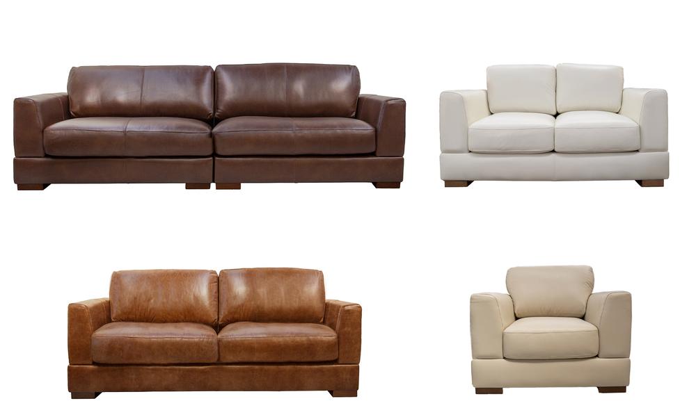 Milano leather sofa range   4 colours  2322   web