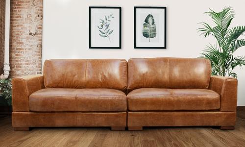 Pecan 4s milano leather sofa 2322   web3