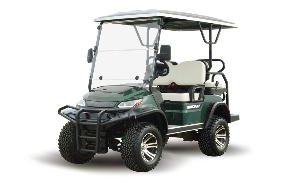 Metallic green 4 seaters golf cart 2739  2740   web1