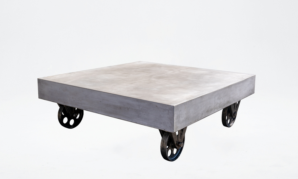Bristol concrete coffee table on rollers 2645   web2