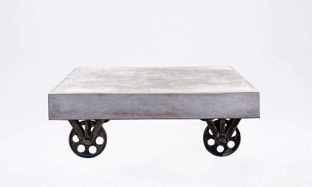 Bristol concrete coffee table on rollers 2645   web1