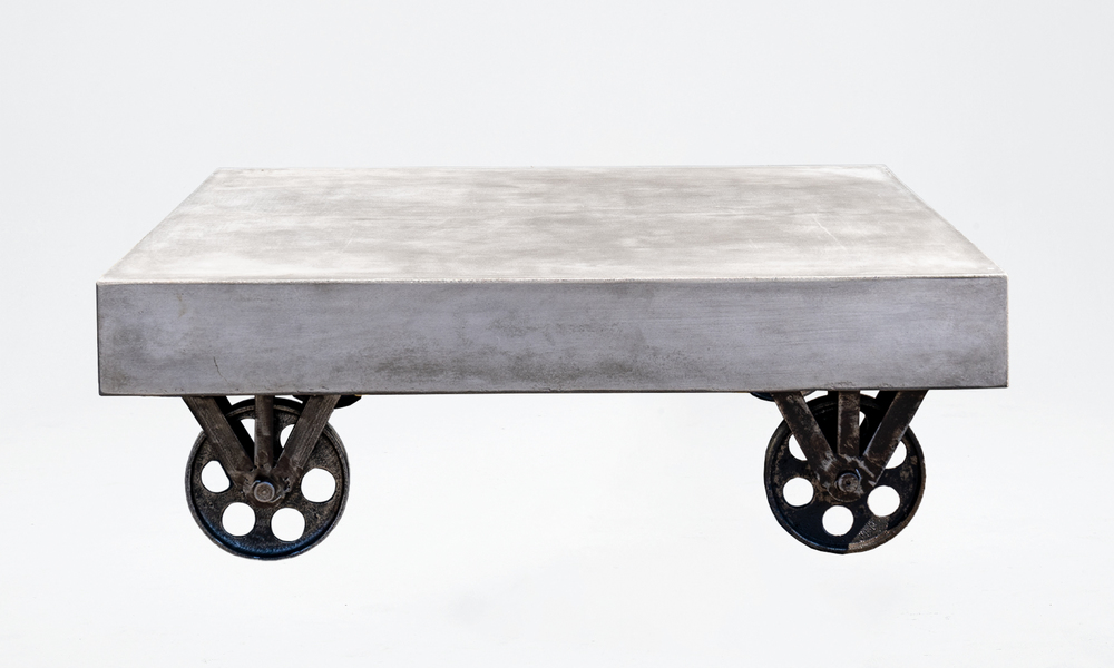 Bristol concrete coffee table on rollers large 2645   web1