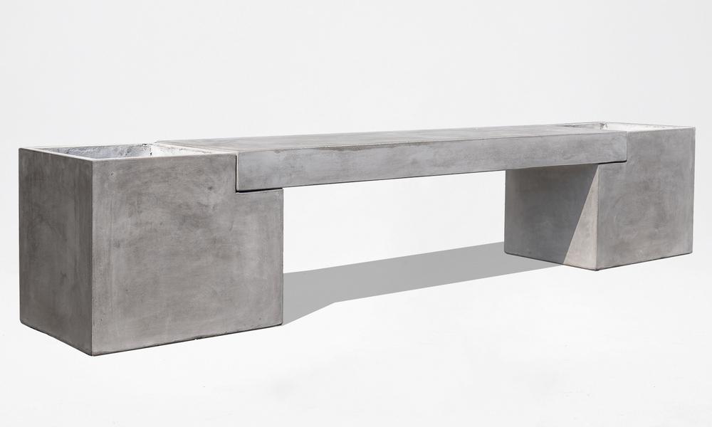 Trafalger concrete planter   bench seat 2653   web1