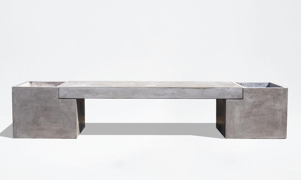 Trafalger concrete planter   bench seat 2653   web2