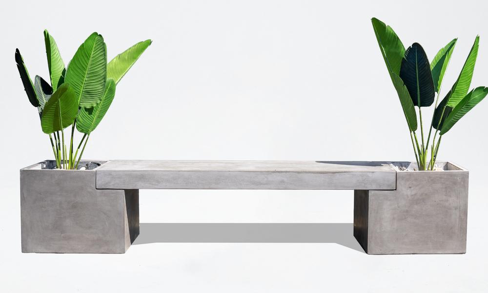 Trafalger concrete planter   bench seat 2653   web3