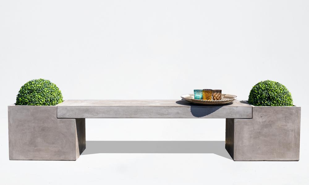 Trafalger concrete planter   bench seat 2653   web4