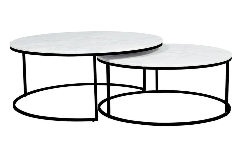 Double marble coffee table 2805   web1