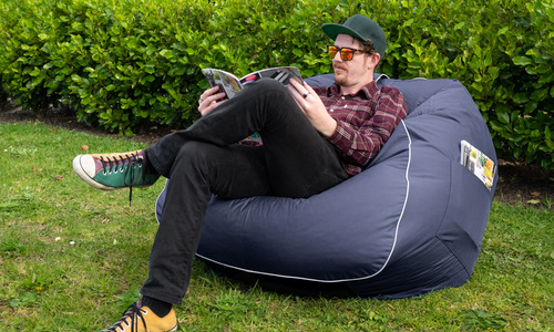 Blue   large round beanbag   web1