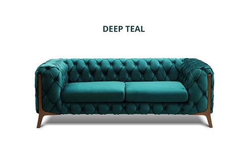 New deep teal   diablo velvet button 2 seater sofa   web
