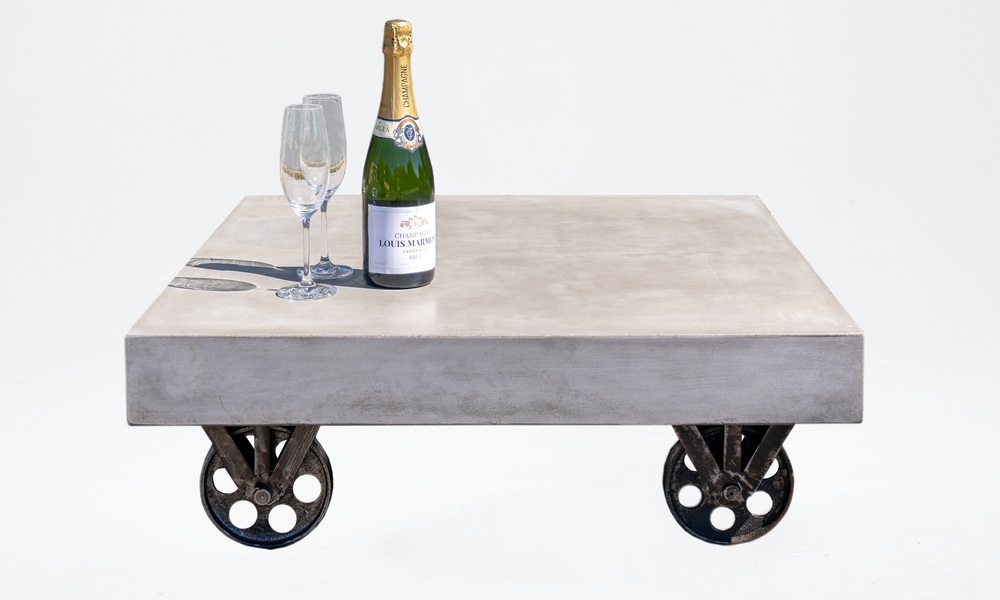 Bristol concrete coffee table on rollers 2645   web3