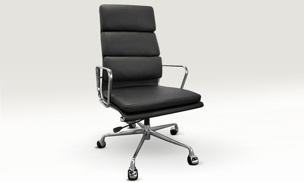 Black replica high back padded office chair 2799   web1